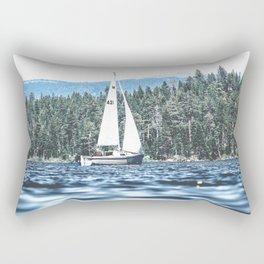Calm Lake Sailboat Rectangular Pillow