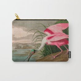 Roseate Spoonbill Birds of America Audubon Illustration Bird Lovers Gift Carry-All Pouch