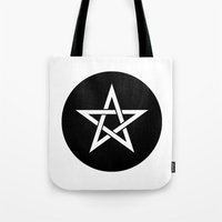 pentagram Tote Bags featuring Pentagram Ideology by ideology