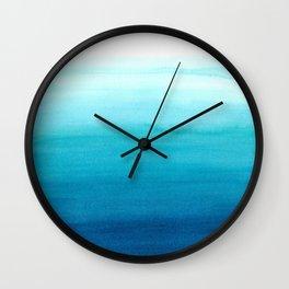 Dive into blue Wall Clock