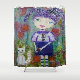 Viola & Lipstick - Whimsies of Light Children Series Shower Curtain