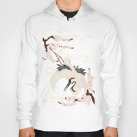 crane Hoodies featuring Japanese Crane by Luna Kirsche
