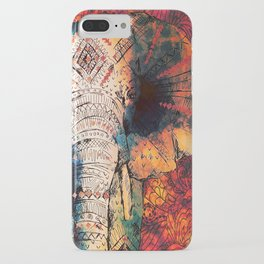 Indian Sketched Elephant iPhone Case