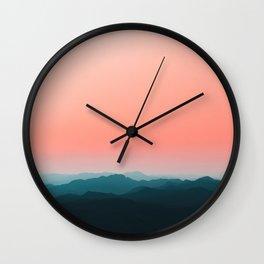 Early morning layers Wall Clock
