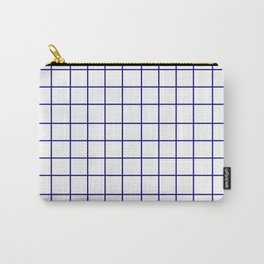 Grid (Navy Blue/White) Carry-All Pouch