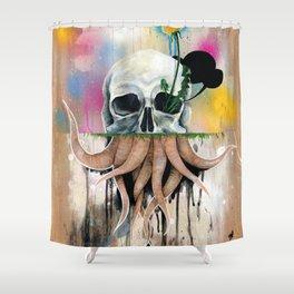 Skull Roots Shower Curtain