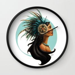 Tribal Princess Pocahontas Wall Clock
