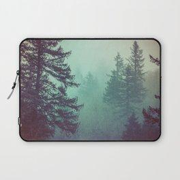 Forest Fog Fir Trees Laptop Sleeve