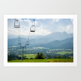 Mountain Cableway Art Print