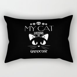 Grindcore Funny Cat TShirt Rectangular Pillow