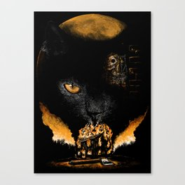 """The Black Cat"" - Edgar Allan Poe Series Canvas Print"