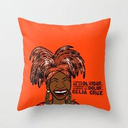 La Reina Celia Cruz Throw Pillow