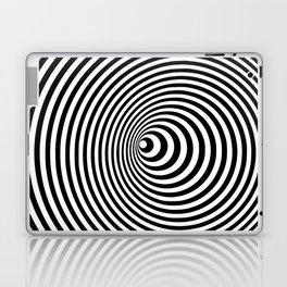 Vortex, optical illusion black and white Laptop & iPad Skin