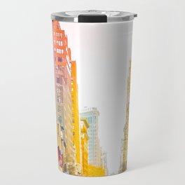 Colors of New York City Downtown Manhattan Travel Mug
