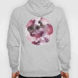 Organic Abstract in shades of plum Hoody