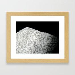 moon texture - Sec.1.23.456 Framed Art Print