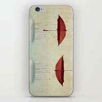 rain iPhone & iPod Skins featuring embracing the rain by Vin Zzep