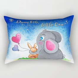Ellie and Bunny - Dream Big Rectangular Pillow
