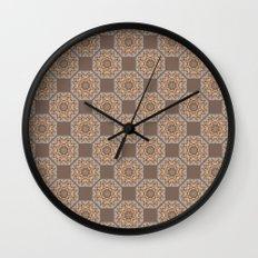 Beach Tiled Pattern Wall Clock