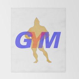GYM Man 2 Throw Blanket