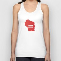 wisconsin Tank Tops featuring Wisconsin Love by Tank Top Sunday