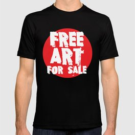 Free Art for Sale (red) T-shirt