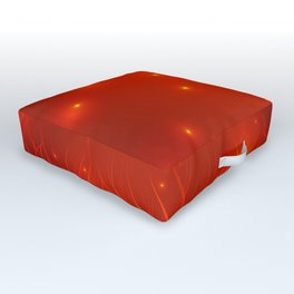 Flames from the fire and spark. Outdoor Floor Cushion