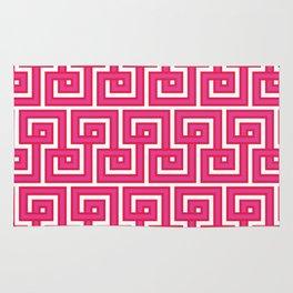 Greek Key - Pink Rug