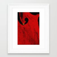 violin Framed Art Prints featuring violin by laika in cosmos