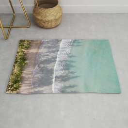 Turquoise water | Tropical travel photography | The Dominican Republic Rug