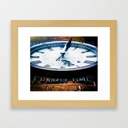 Correct Time Framed Art Print