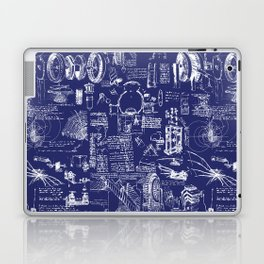 Da Vinci's Sketchbook // Dark Blue Laptop & iPad Skin