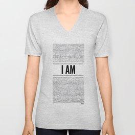 I AM ( Identity series)  Unisex V-Neck