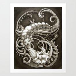 """Pearly Dew drops"" Art Print"