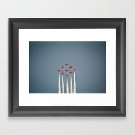 The RAF Red Arrows Flying High Framed Art Print