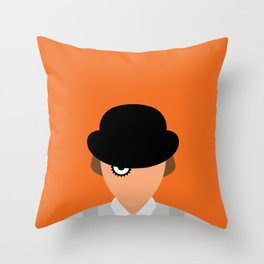 Orange Minimal Throw Pillow
