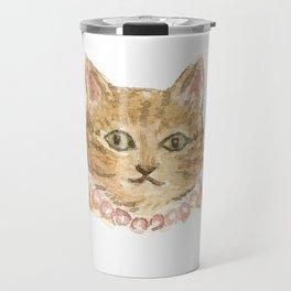 Pearl  the Cat Travel Mug