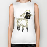 lamb Biker Tanks featuring Lamb by Knot Your World