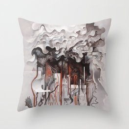 The Unfurling Dreamer Throw Pillow