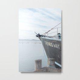 Sailboat at Dock - Travel Photography Metal Print