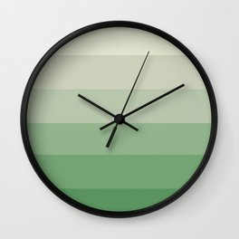 Mint Meringue Ombre Wall Clock