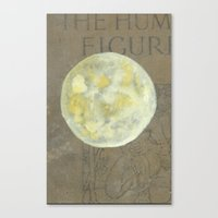 sun and moon Canvas Prints featuring Sun Moon by Matthew Kay