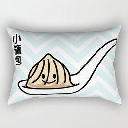 Xiaolongbao Chinese Soup Dumpling Dim Sum Bun spoon Rectangular Pillow