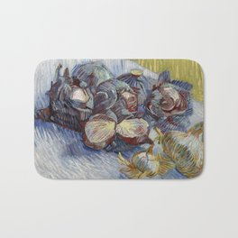 Red Cabbages and Onions, Vincent van Gogh Bath Mat