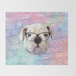 Singing Bulldog Throw Blanket