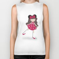 minnie Biker Tanks featuring minnie love by made by kale
