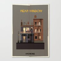 babina Canvas Prints featuring Rear Window   Directed by Alfred Hitchcock by federico babina