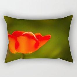 La tulipe orange Rectangular Pillow