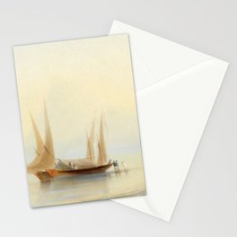 Ivan Aivazovsky - Barge at Sea Shore Stationery Cards
