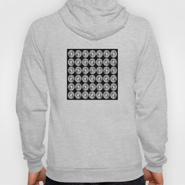 Circle design in black and white Number  9 Hoody
